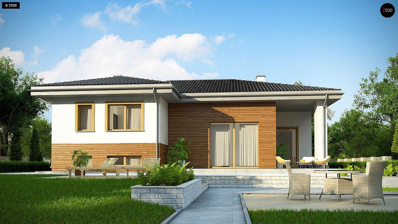 Красивый и комфортный однэтажный дом с цоколем 5