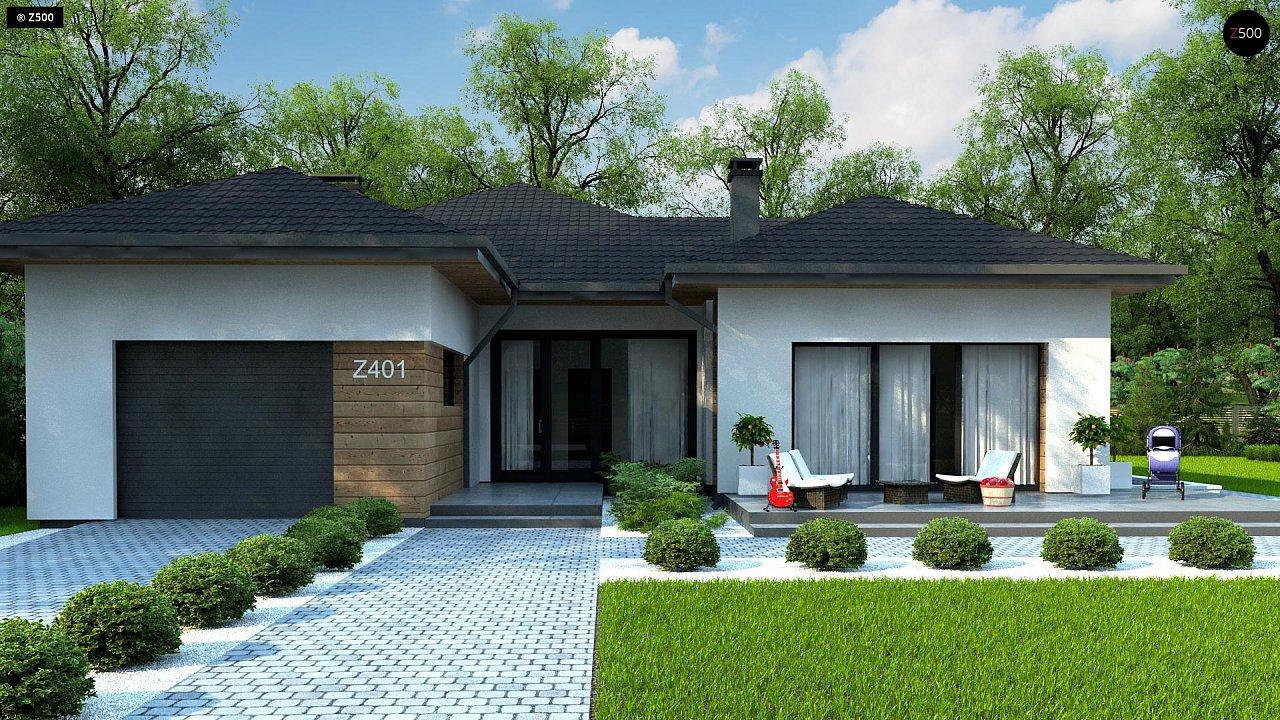 Проект комфортного одноэтажного дома в европейском стиле. 3