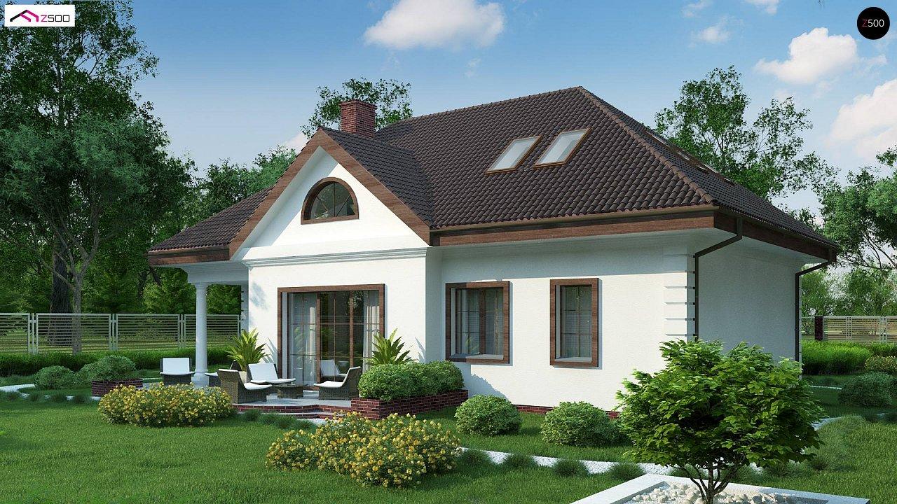 Проект дома в классическом стиле с роскошной мансардой и стильным экстерьером. - фото 6