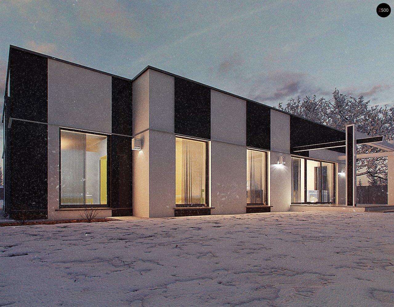 Одноэтажный комфортный дом в стиле хай-тек. 14