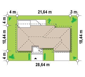 Функциональный удобный дом с гаражом на два автомобиля и большим хозяйственным помещением. план помещений 1