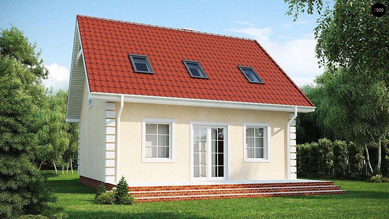 Компактный дом в традиционном стиле с двускатной крышей и красивыми мансардными окнами. - фото 2