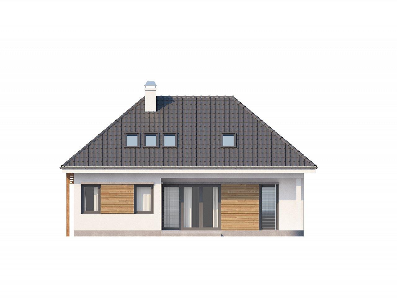 Удобный и красивый дом традиционного характера с двумя дополнительными спальнями на первом этаже. 4