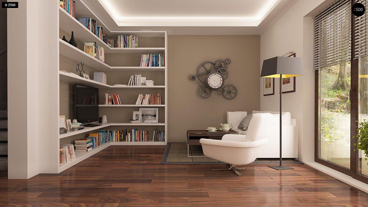 Версия проекта Z150 с гаражом вместо дополнительного помещения. 3
