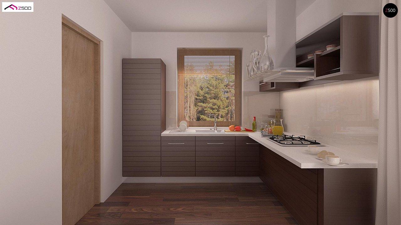Проект простого и аккуратного дома с дополнительной ночной зоной на первом этаже. 6