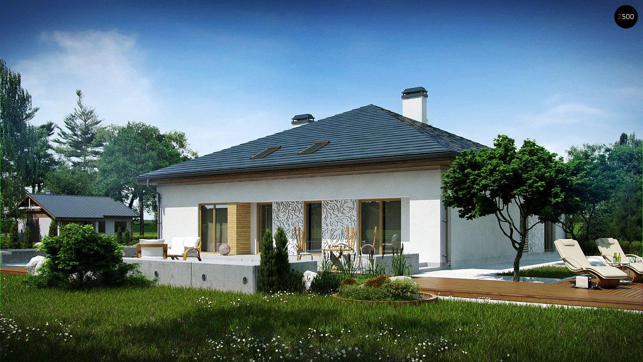 Проект просторного дома с многоскатной крышей. 1