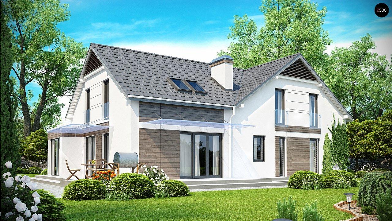 Просторный и комфортный дом с гаражом для двух автомобилей и угловым эркером. 2