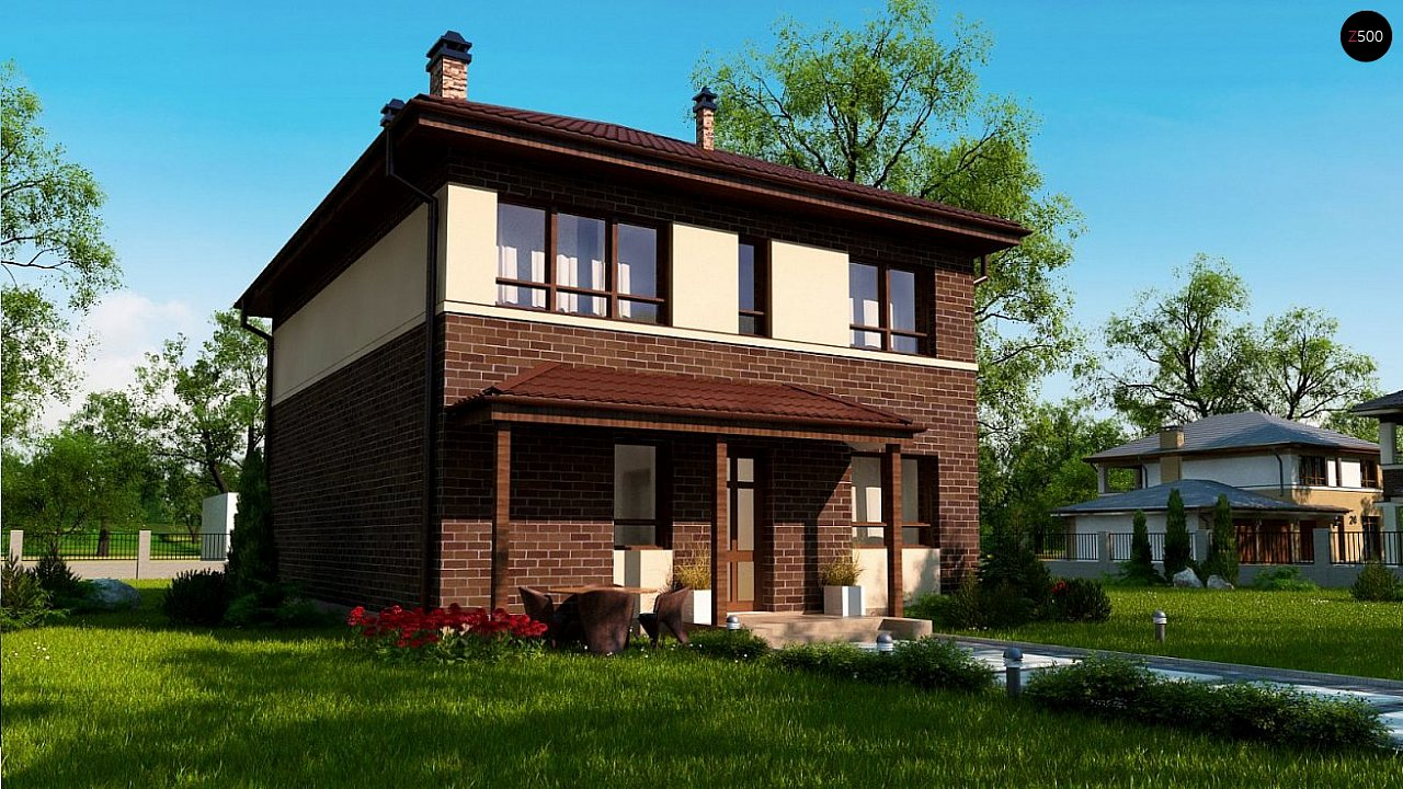 Версия двухэтажного дома Zx24a с измененной планировкой - фото 4