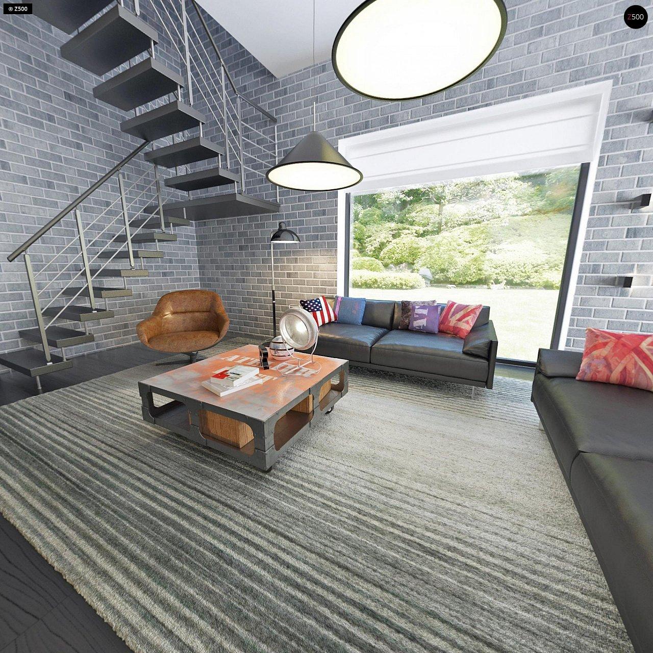 Современный элегантный дом с гостиной с фронтальной стороны. - фото 12