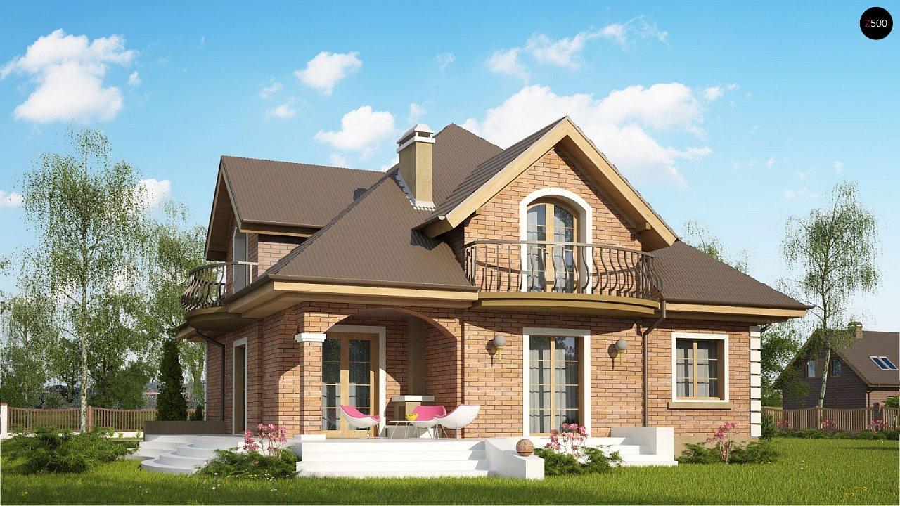 Версия проекта Z18 c кирпичной облицовкой фасадов. - фото 2