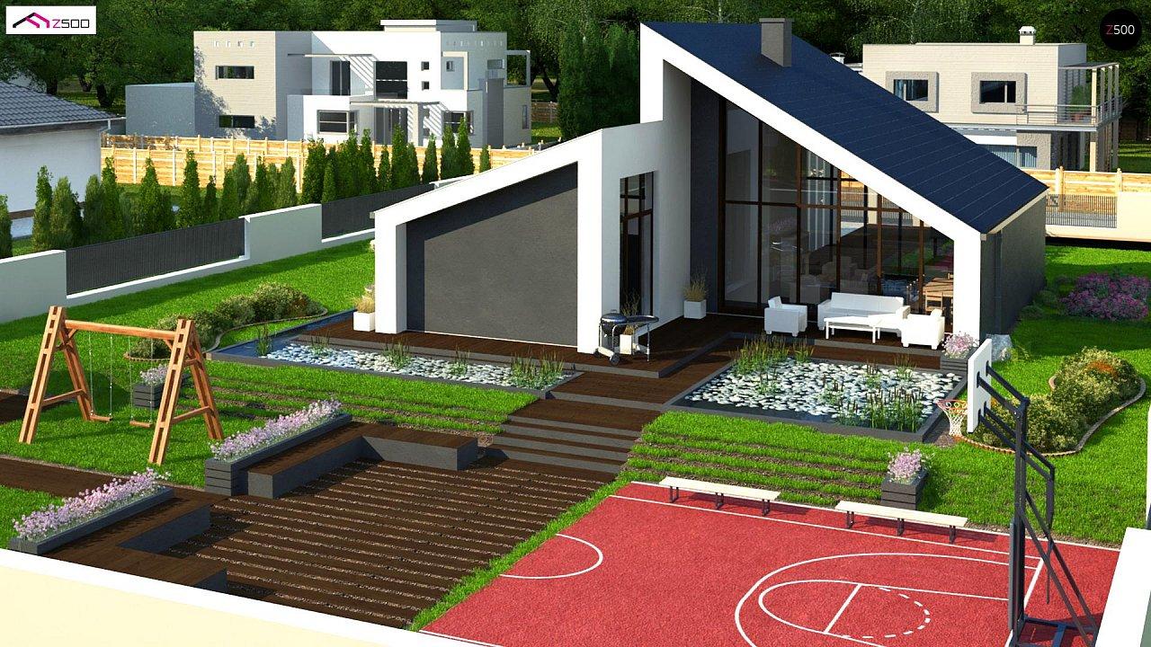 Современный дом с просторной гостиной и большим остеклением - фото 4