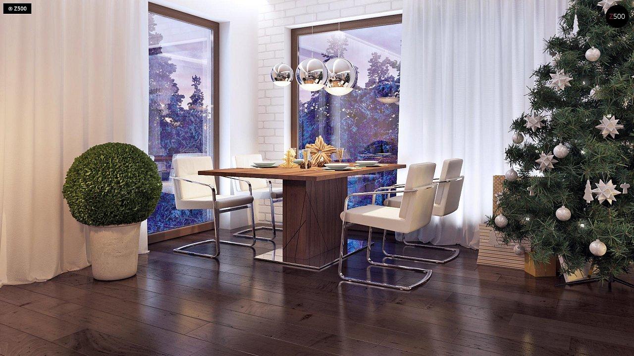 Дом характерного современного дизайна с гаражом и кабинетом на первом этаже. - фото 22