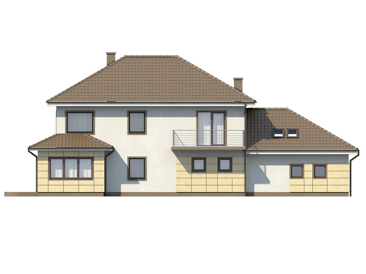 Просторный и функциональный двухэтажный дом с многоскатной кровлей и гаражом. - фото 4