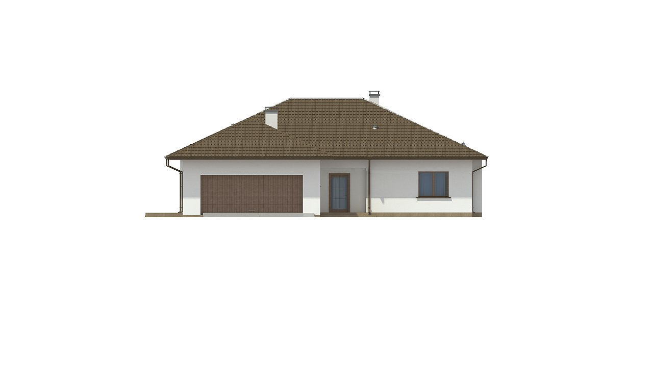 Удобный функциональный одноэтажный дом с гаражом для двух автомобилей. 6