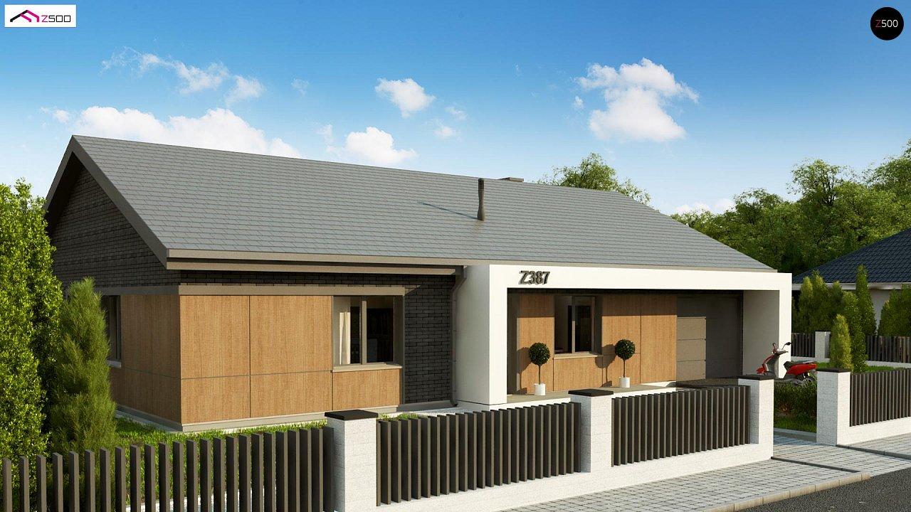 Одноэтажный дом с 4 спальнями, гаражом и 2-х скатной крышей 3