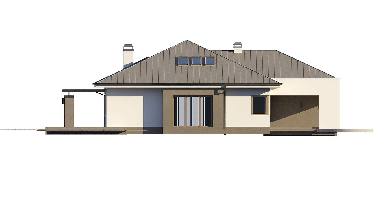 Комфортный элегантный дом с тремя спальнями и выступающим фронтальным гаражом. 15