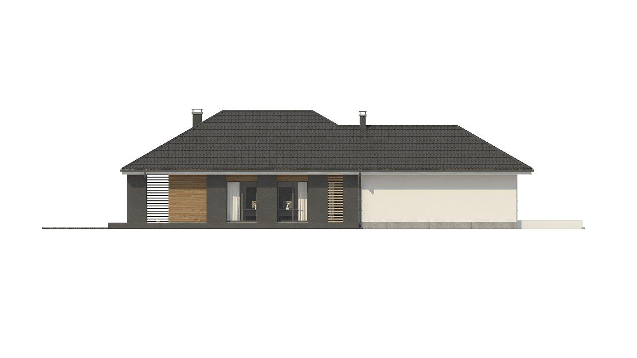 Одноэтажный дом в современном стиле с двойным гаражом 21