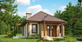 Проект маленького уютного дома с функциональной планировкой. Оснащен всем необходимым для постоянного проживания.