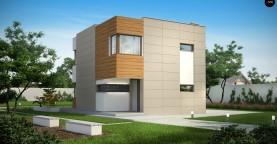 Компактный дом в стиле современного кубизма с тремя спальнями.