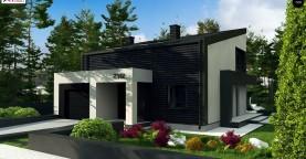 Современный двухуровневый дом с гаражом на одно авто и террасой на первом этаже