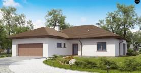 Удобный функциональный одноэтажный дом с гаражом для двух автомобилей.