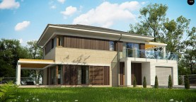 Проект двухэтажного дома Zx63 B + адаптированный под строительство в сейсмических районах