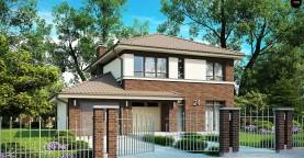 Проект комфортного двухэтажного дома, адаптированный для каркасной технологии
