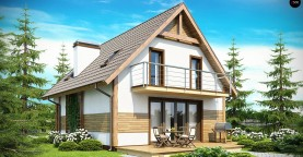 Предложение выгодного и практичного дома, подходящего для удлиненного или, наоборот, неглубокого участка.