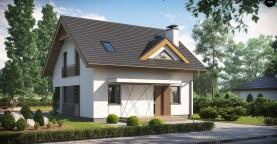 Небольшой стильный и практичный дом с мансардными окнами.