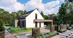 Проект дома с мансардой и двускатной крышей