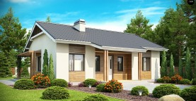 Проект компактного одноэтажного дома, экономичного как в строительстве, так и в эксплуатации.