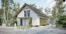 Компактный и функциональный дом с мансардой в традиционном стиле.