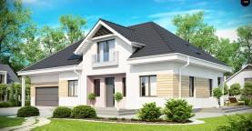 Комфортный стильный дом с большим гаражом для двух автомобилей и дополнительной комнатой над ним.