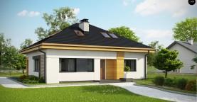 Версия проекта Z273 с жилой мансардой, с увеличенной высотой аттиковой стены.