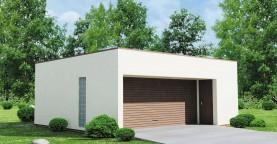 Проект гаража в стиле хай-тек для двух машин