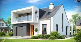 Современный дом с уютным и функциональным интерьером. Интересное сочетание двускатной крыши и кубических форм.