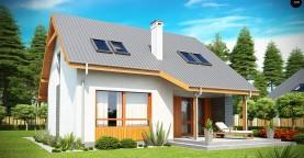 Проект небольшого практичного дома, выгодного в строительстве и эксплуатации.