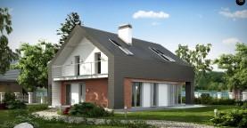 Практичный и уютный дом с модернистскими элементами в архитектуре.