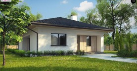 Дом для узкого участка с 4-х скатной крышей