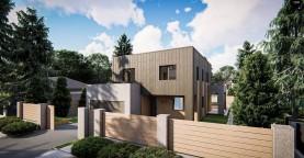Современный двухэтажный дом с плоской крышей