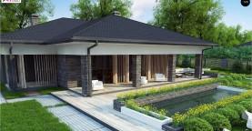 Проект стильного одноэтажного дома в традиционном стиле