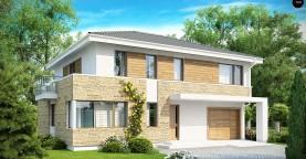 Просторный двухэтажный дом минималистичного современного дизайна.