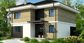 Вариант двухэтажного дома Zz1a с плитами перекрытия