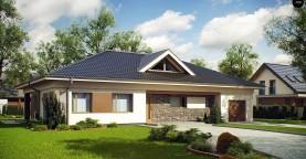 Проект просторного одноэтажного дома с 4 спальнями.
