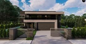 Современный двухэтажный дом с плоской кровлей