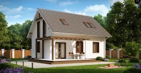 Проект каркасного мансардного дома в классическом дизайне