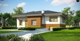 Красивый и комфортный однэтажный дом с цоколем