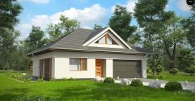 Функциональный, уютный дом с эффектными фасадными окнами на мансарде.