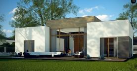 Одноэтажный дом в стиле современного минимализма