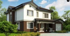 Просторный проект двухэтажного дома с удобной планировкой.